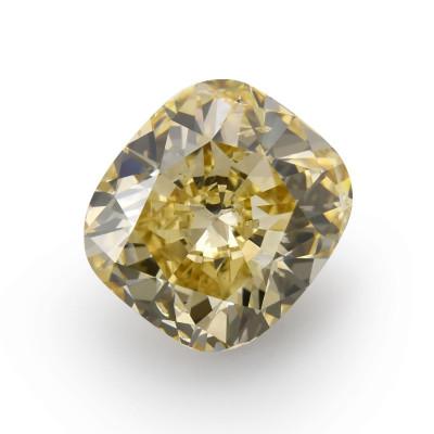 9.05 carat, Fancy Brownish Yellow Diamond, Cushion Shape, I1 Clarity, GIA