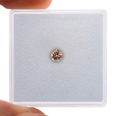 0.14 carat, Fancy Brown Pink Diamond, Pear Shape, (I1) Clarity, GIA
