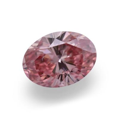 0.15 carat, Fancy Intense Orangy Pink Diamond, 4PR, Oval Shape, I1 Clarity, ARGYLE
