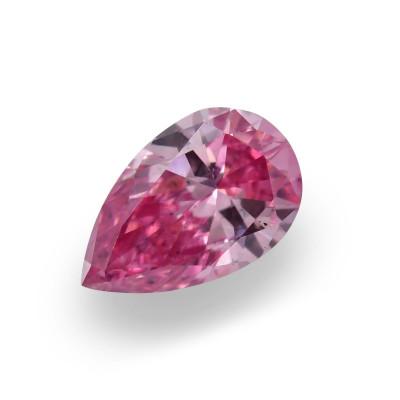0.15 carat, Fancy Vivid Purplish Pink Diamond, 3PP, Pear Shape, SI2 Clarity, ARGYLE