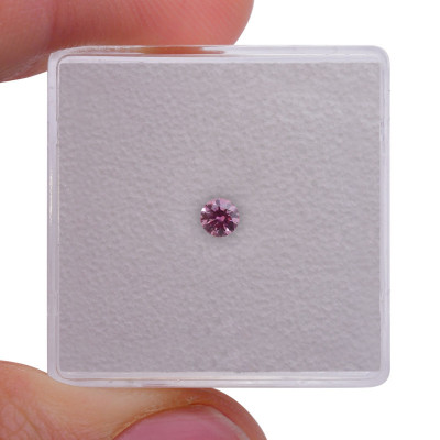 0.11 carat, Fancy Intense Purplish Pink Diamond, 5PP, Round Shape, (VS2) Clarity, ARGYLE