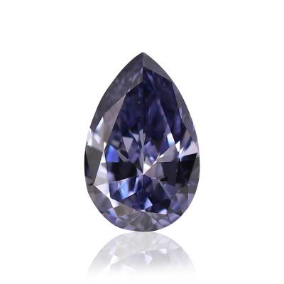 0.13 carat, Fancy Dark Gray Violet Diamond, Pear Shape, (VS2) Clarity, GIA