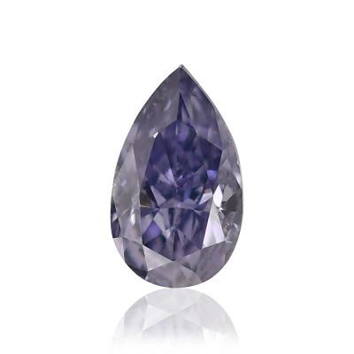 0.12 carat, Fancy Gray Violet Diamond, Pear Shape, (SI1) Clarity, GIA