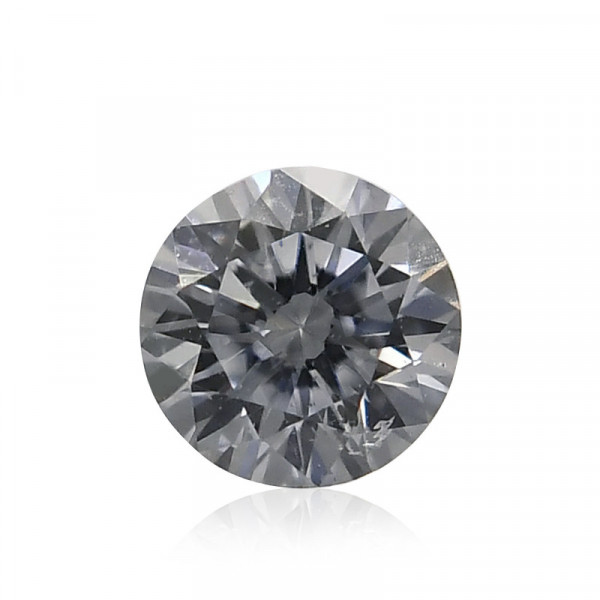 0.07 carat, Very Light Blue Diamond, Round Shape, (I1) Clarity, GIA