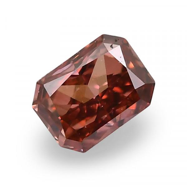 0.08 carat, Fancy Deep Brown Pink Diamond, Radiant Shape, GIA