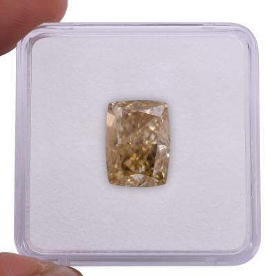 9.06 carat, Fancy Brownish Yellow Diamond, Cushion Shape, SI1 Clarity, GIA