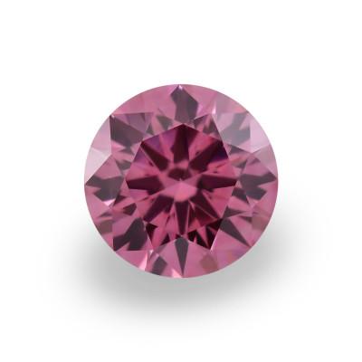 0.15 carat, Fancy Deep Purplish Pink Diamond, 3PP, Round Shape, VS1 Clarity, ARGYLE