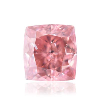 0.15 carat, Fancy Deep Pink Diamond, Cushion Shape, SI1 Clarity, GIA