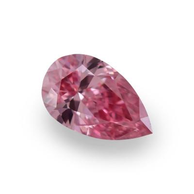 0.15 carat, Fancy Intense Pink Diamond, 4P, Pear Shape, VVS2 Clarity, GIA & ARGYLE