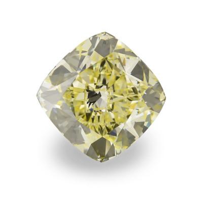 9.50 carat, Fancy Yellow Diamond, Cushion Shape, VVS1 Clarity, GIA