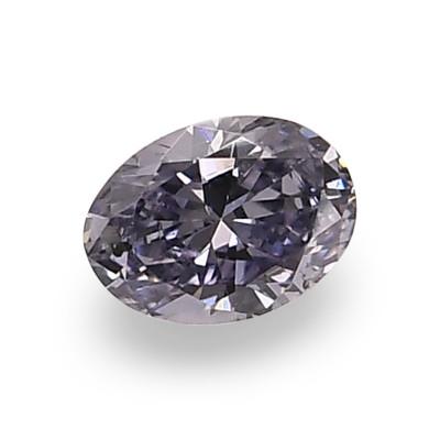 0.08 carat, Fancy Gray Violet Diamond, BL2, Oval Shape, (SI2) Clarity, ARGYLE & GIA