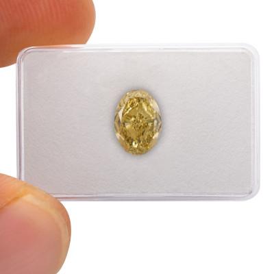 9.22 carat, Fancy Brownish Yellow Diamond, Oval Shape, VVS2 Clarity, GIA