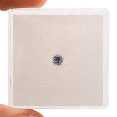 0.11 carat, Fancy Vivid Blue Diamond, Cushion Shape, (I1) Clarity, GIA
