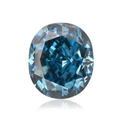 0.13 carat, Fancy Vivid Green Blue Diamond, Oval Shape, (I1) Clarity, GIA