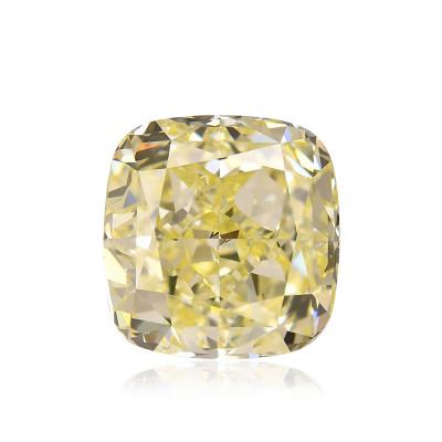 9.02 carat, Fancy Yellow Diamond, Cushion Shape, VS1 Clarity, GIA