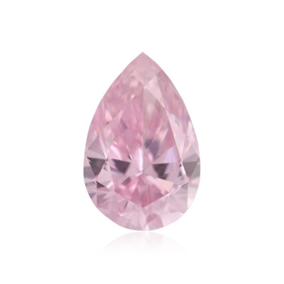 0.15 carat, Fancy Intense Pink Diamond, 6PP, Pear Shape, VS2 Clarity, ARGYLE