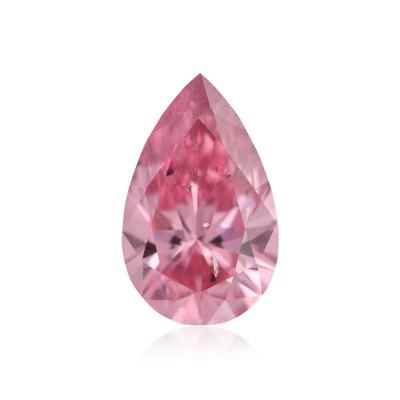 0.15 carat, Fancy Vivid Purplish Pink Diamond, 2PP, Pear Shape, SI2 Clarity, ARGYLE