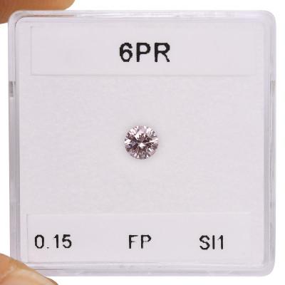 0.15 carat, Fancy Pink Diamond, 6PR, Round Shape, SI1 Clarity, ARGYLE