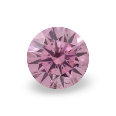 0.11 carat, Fancy Intense Purplish Pink Diamond, 5PP, Round Shape, (SI2) Clarity, ARGYLE