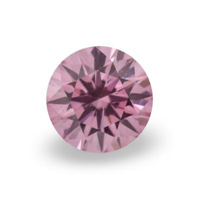 0.12 carat, Fancy Intense Purplish Pink Diamond, 5PP, Round Shape, (SI2) Clarity, ARGYLE