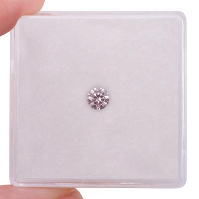 0.15 carat, Fancy Light Orangy Pink Diamond, 7PR, Round Shape, VVS1 Clarity, ARGYLE