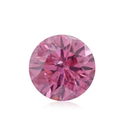 0.15 carat, Fancy Vivid Purplish Pink Diamond, Round Shape, (SI2) Clarity, GIA