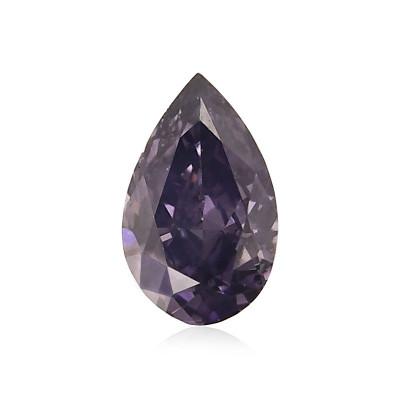 0.09 carat, Fancy Dark Gray Violet Diamond, Pear Shape, (SI2) Clarity, GIA