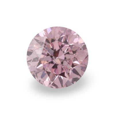 0.14 carat, Fancy Intense Pink Diamond, 6PR, Round Shape, (I1) Clarity, ARGYLE
