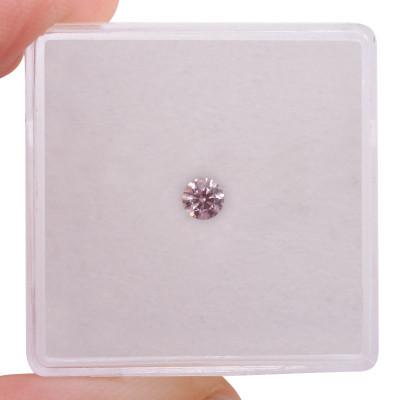 0.14 carat, Fancy Intense Pink Diamond, 6PR, Round Shape, (SI1) Clarity, ARGYLE