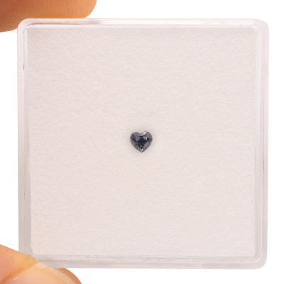 0.06 carat, Fancy Blue Gray Diamond, Heart Shape, GIA