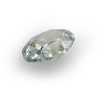 0.10 carat, Fancy Bluish Green Diamond, Oval Shape, (VS2) Clarity, GIA