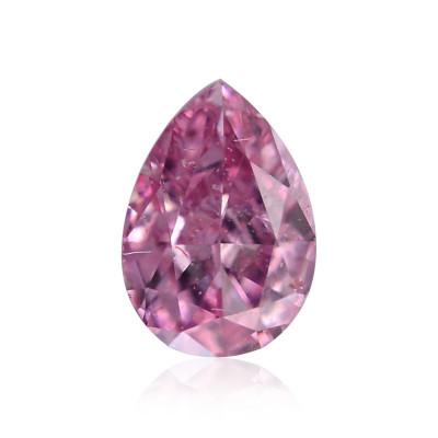 0.08 carat, Fancy Intense Purplish Pink Diamond, Pear Shape, (SI2) Clarity, GIA