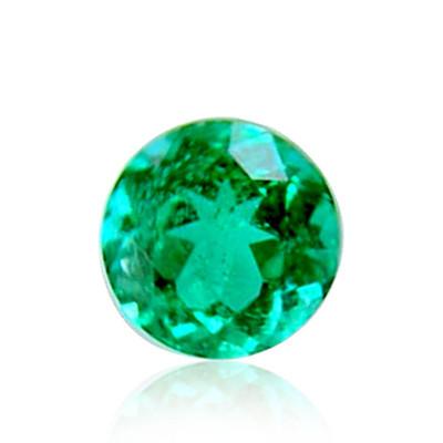 0.17 carat, Green, ZAMBIAN Emerald, Round Shape
