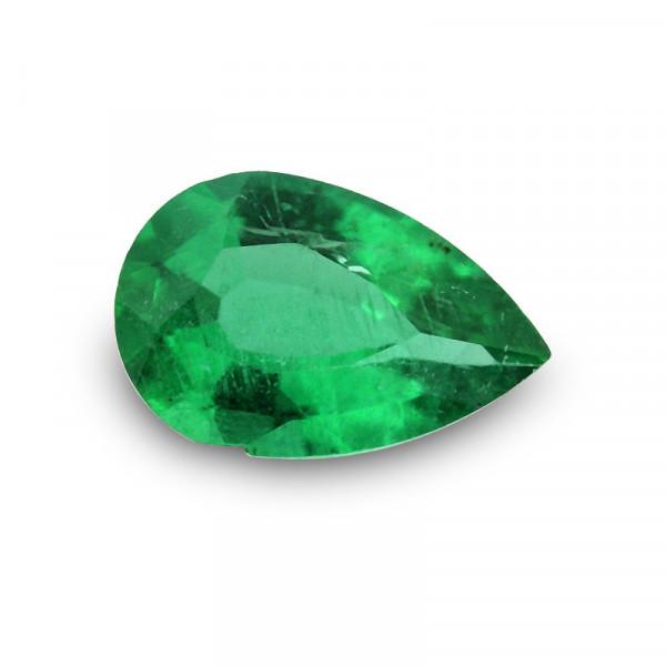 0.28 carat, Green ZAMBIAN Emerald Pear Shape