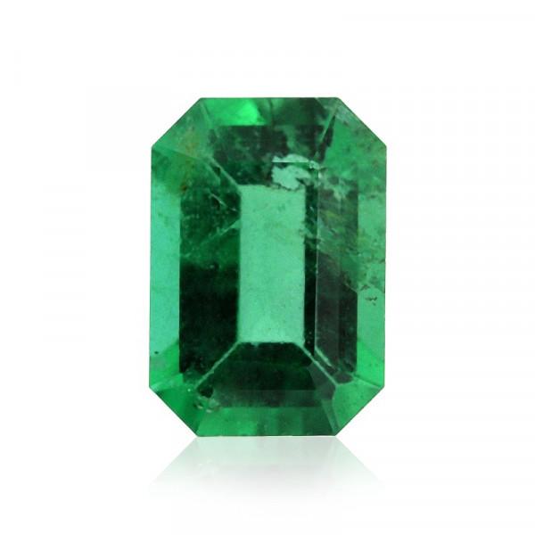 0.51 carat, Green, ZAMBIAN Emerald, Emerald Shape