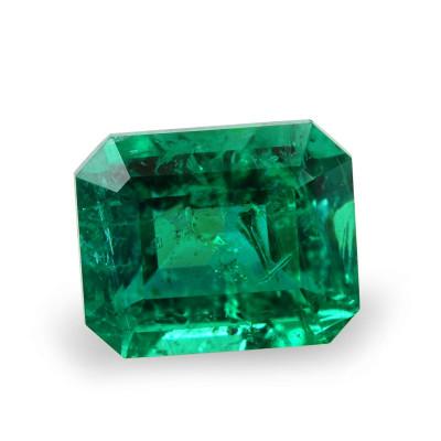 0.89 carat, Green, ZAMBIAN Emerald, Emerald Shape, Minor