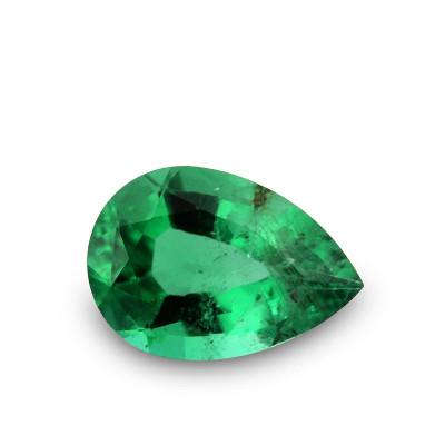 0.37 carat, Green ZAMBIAN Emerald Pear Shape