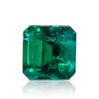 1.48 carat green Colombian emerald, emerald shape