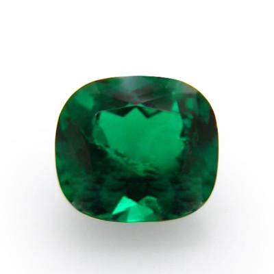 0.75 carat green Colombian emerald, cushion shape, small, CD-ROM