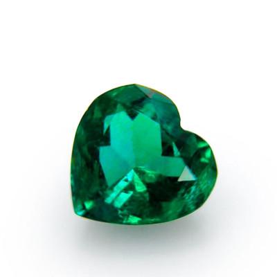 1.56 carat green Colombian emerald, heart shaped, small, CD-ROM