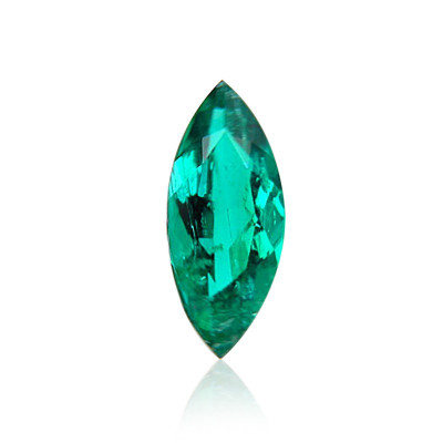 1.20 CT green Colombian emerald, Marquise shape