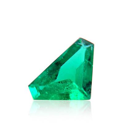 1.91 carat Green COLOMBIAN Emerald, Trilliant Shape, Minor, CD