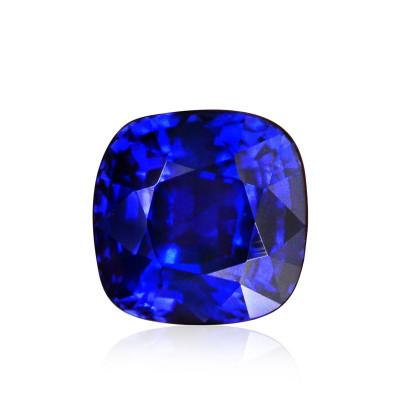 3.01 carat, Royal Blue Sri Lankan Sapphire, Cushion Shape, GRS