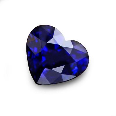0.87 carat Blue Sri Lankan Sapphire, Heart Shape