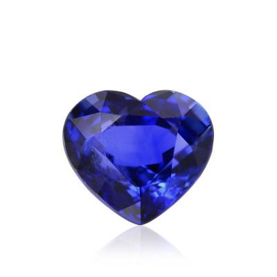 0.85 carat Blue, CEYLON Sapphire, Heart Shape