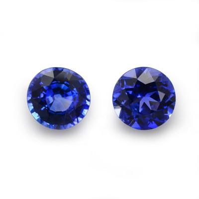 1.27 карат, синий, Шри-Ланки Сапфир, круглой формы