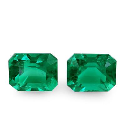 9.29 карат, зеленый, колумбийский изумруд, изумрудно-формы, мелкие, GUBELIN