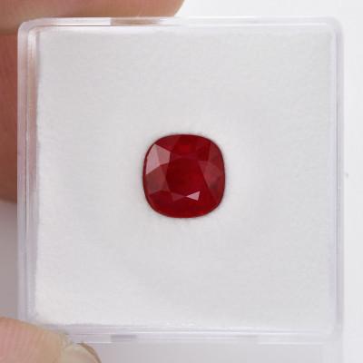 1.78 карат, голубиная кровь, бирманский рубин, подушкообразной формы, гр