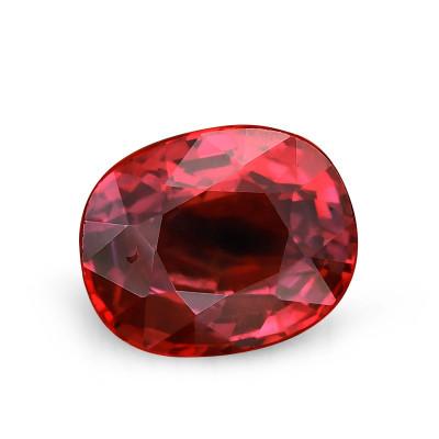 2,00 карат, голубиная кровь, бирманский рубин, овальной формы, не свидетельствует о повышение тепло, гр
