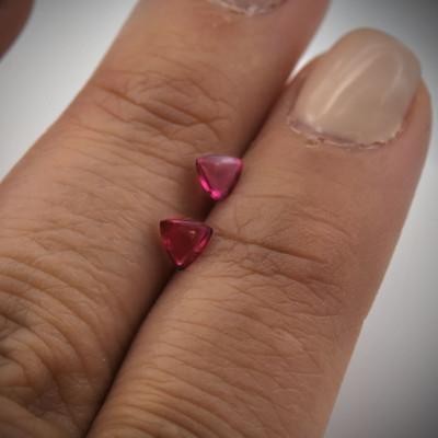 0.47 карат, Красное, рубеллитом, форма триллиант